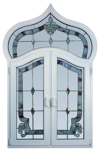 Витражное окно из профиля КБЕ