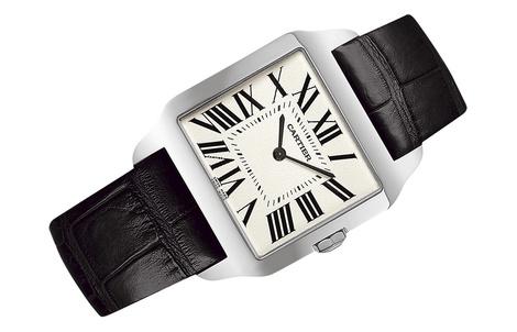 Часы Cartier Santos-Dumont Они великолепно сидят на запястье. Не массивные и в то же время надежные.
