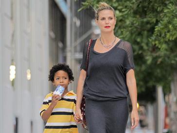 Хайди Клум (Heidi Klum) с сыном Йоханом