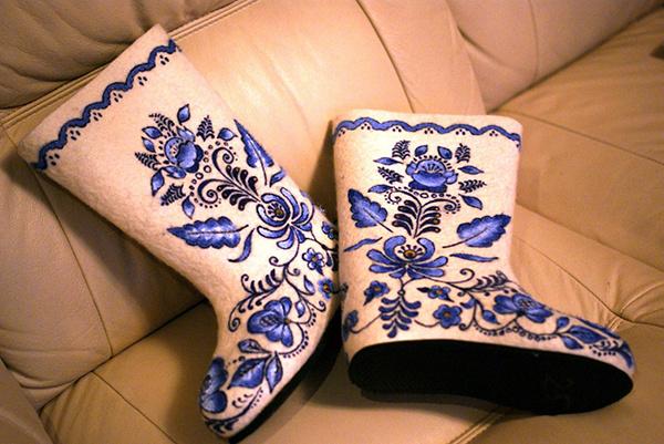 Носки с кожаной подошвой