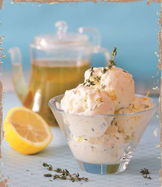 Лимонно-тимьяновое мороженое