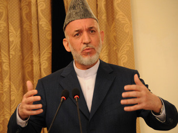 Хамид Карзай (Hāmid Karzay) обащется с талибами