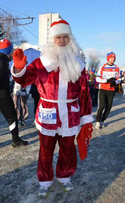 Омск, рождественский полумарафон 2015, костюмы