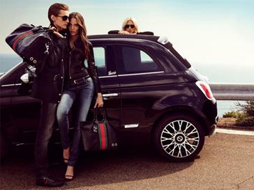 Дизайн Fiat 500C by Gucci содала креативный директор бренда Gucci Фрида Джаннини