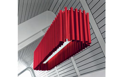 светильник, дизайн столовой, модный тренд, красный цвет