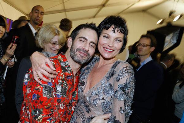 Марк Джейкобс и Кейт Мосс на Неделе моды в Париже осень-2013