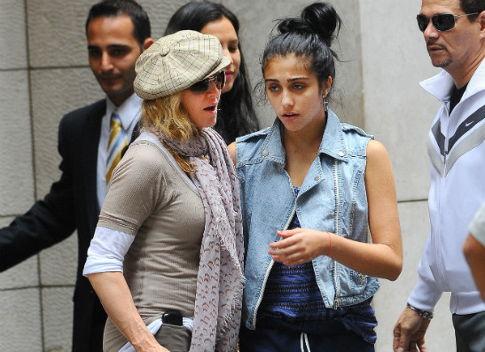 Мадонна и Лурдес Леон