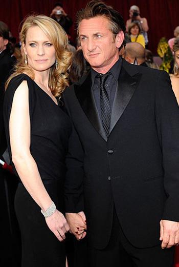 Робин Райт и Шон Пенн (церемония вручения «Оскар», февраль 2009 года)