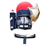 Фирменный рюкзак от сети АЗС «Газпром» с набором посуды для пикника