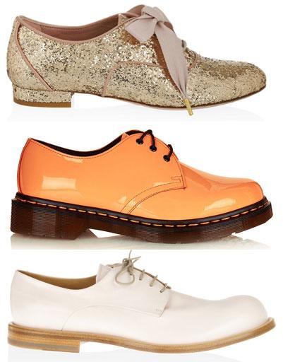 Сверху вниз: ботинки Red Valentino; ботинки Dr. Martens; ботинки Jil Sander