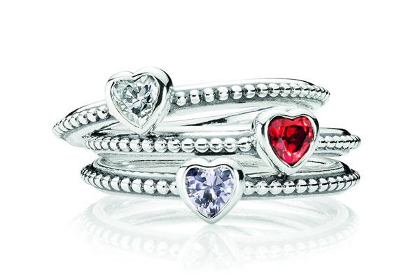 Серебряные кольца Pandora, 1950 рублей каждое