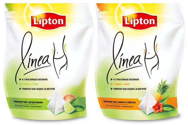В новом чае Lipton Linea содержится в два раза больше катехинов, чем в любом другом зеленом чае