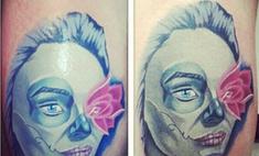 Американец сделал татуировку с лицом Алены Водонаевой