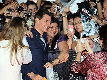 Том Круз (Tom Cruise) приехал в Москву