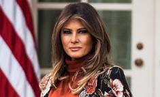 Мелания Трамп вышла в свет в «бабулькином» халате