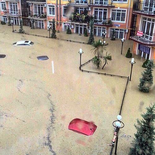 Потоп в Сочи фото