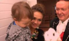 Алена Водонаева проводит семейные выходные