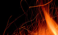 Пожар на газопроводе в США