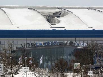 стадион, снегопад, катастрофа