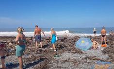 выглядят пляжи сочи наводнения фото видео