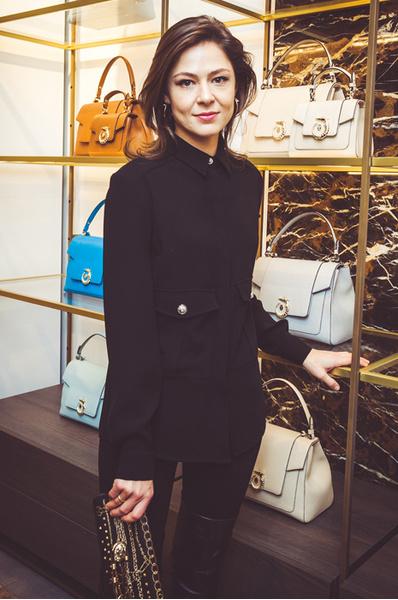 Елена Лядова на открытии бутика Trussardi
