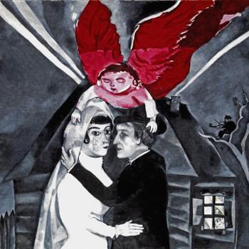 "Марк Шагал (Marc Chagall), ""Венчание"", 1918"
