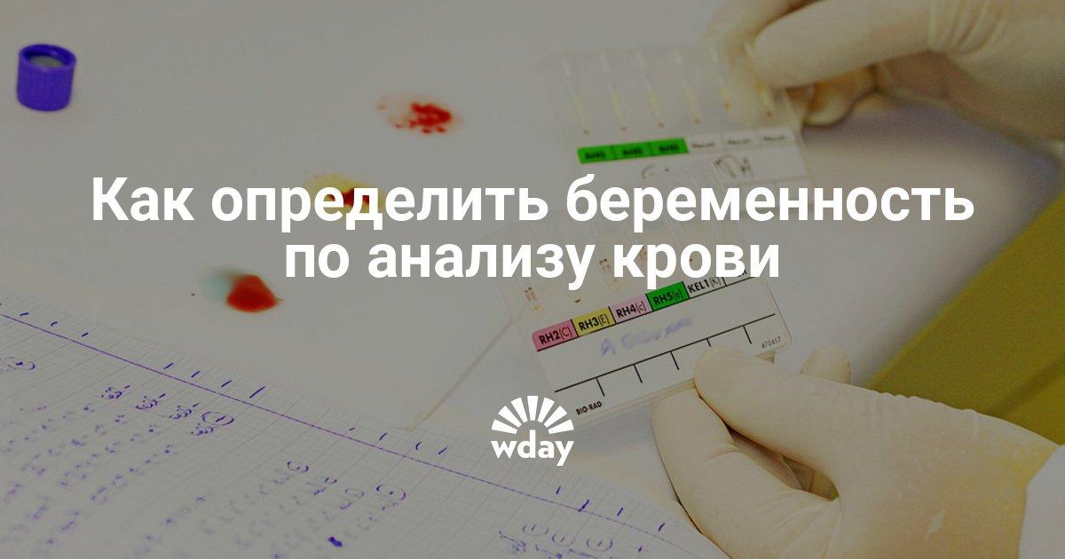 Анализ крови на беременность хгч