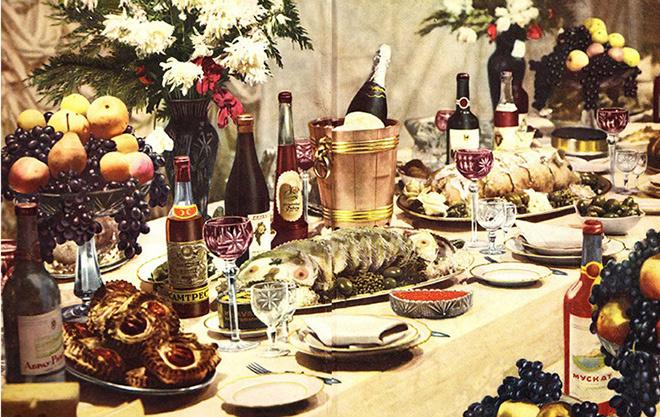 Новогодний стол в Советском союзе