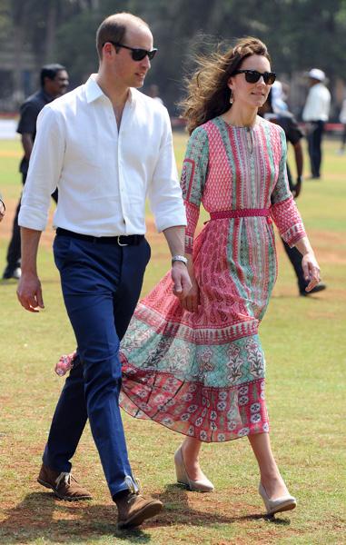 Кейт Миддлтон и принц Уильям в Мумбаи