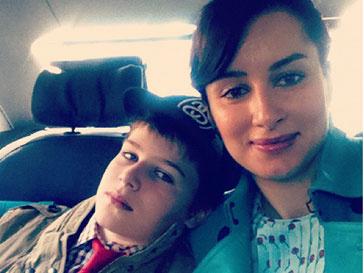 Тина Канделаки с сыном Леонтием