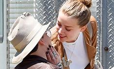 Нечего скрывать: страстные поцелуи Деппа и Херд