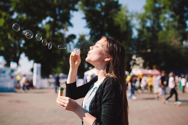 День мыльных пузырей в Иркутске