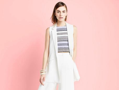 How-to-wear: топ в крупную полоску