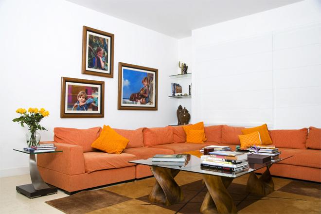 Оранжевые оттенки в интерьере