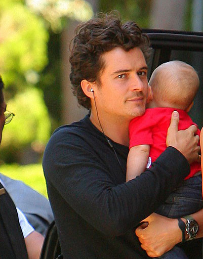 Орландо Блум (Orlando Bloom) с сыном Флинном