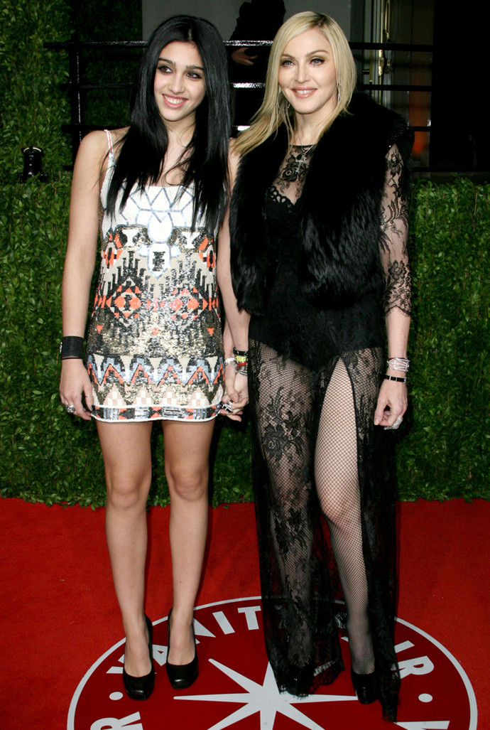 Мадонна с дочерью: фото
