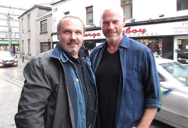 Мартин МакДонах (справа) на фестиваль приехать не смог, хотя очень хотел