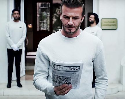 Дэвид Бекхэм в видео H&M