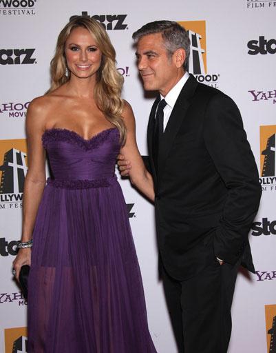 Стэйси Киблер (Stacy Kiebler) и Джордж Клуни (George Clooney)