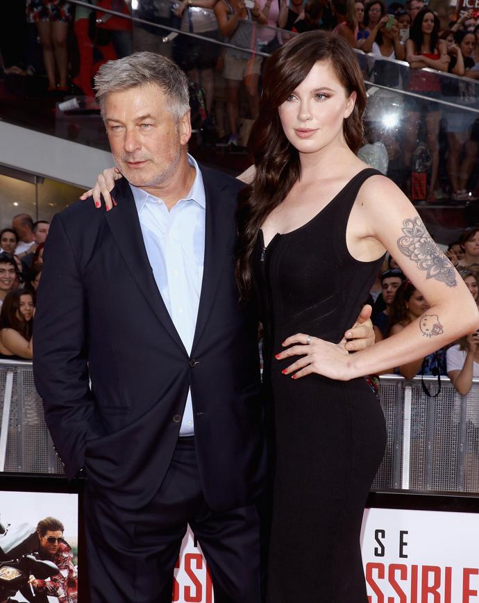 Алек Болдуин с дочерью Айрлэнд на премьере фильма «Миссия невыполнима: Племя изгоев»