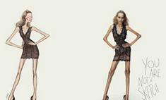 Опубликована шокирующая рекламная кампания против анорексии
