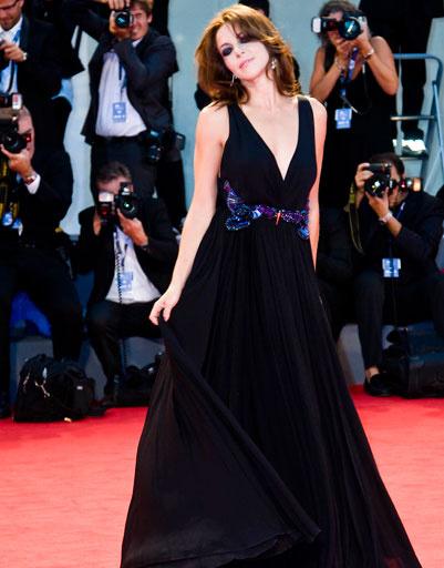 Клаудия Джерини (Claudia Gerini) на 69-ом Венецианском кинофестивале