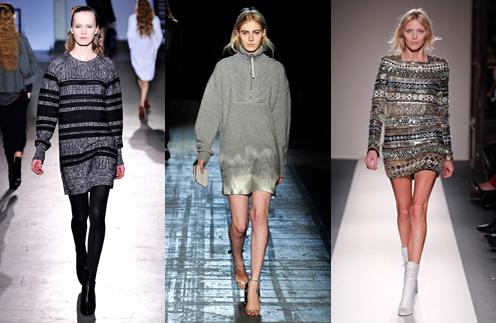 Платья-свитер появилось в коллекциях Phillip Lim, Alexander Wang и Balmain