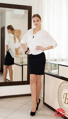 с чем носить белую блузку
