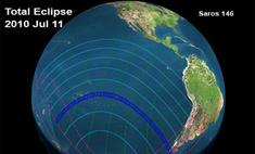 Завершилось единственное в 2010 году полное солнечное затмение