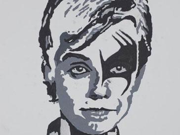Робби Уильямс (Robbie Williams) нарисовал автопортрет