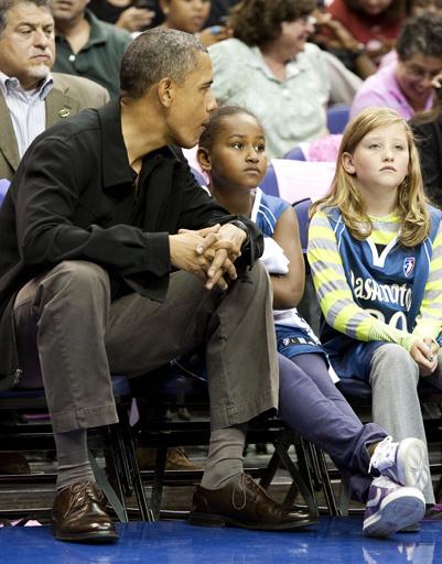 Барак Обама с дочерью Сашей