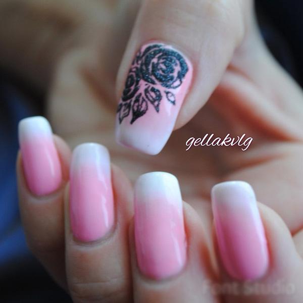 Дизайн ногтей цветы на короткие ногти