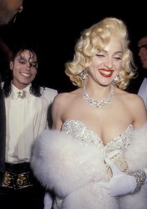 Мадонна в образе Мэрилин Монро в 1991 году.