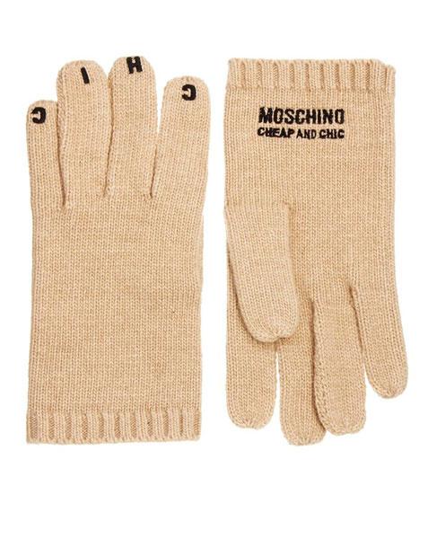 Перчатки Moschino Cheap & Chic, 3623 рубля